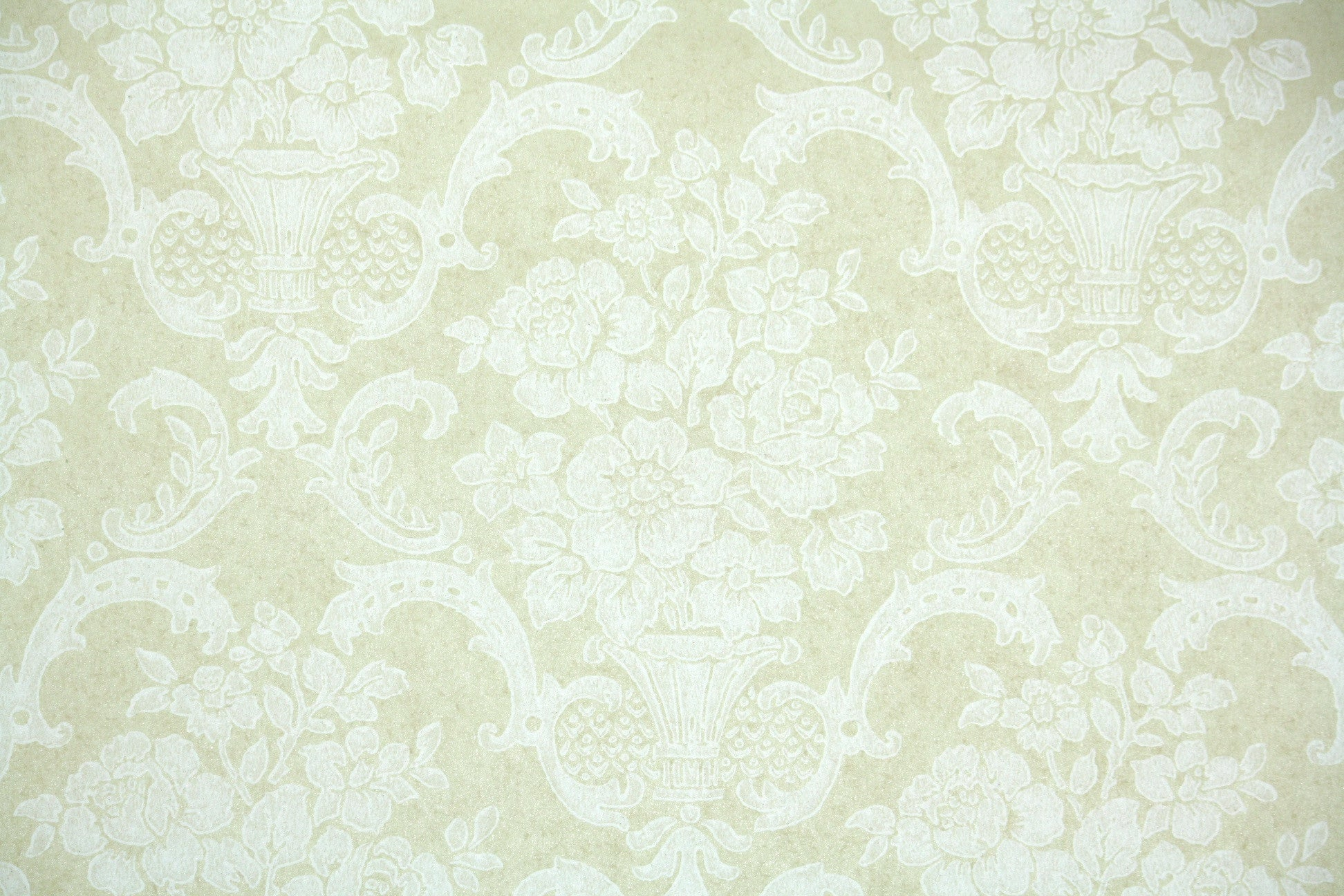 1960s Floral Damask Vintage Wallpaper Hannah S Treasures Vintage