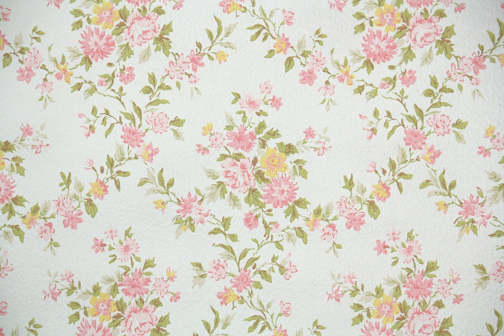 1960s Floral Vintage Wallpaper Hannah S Treasures Vintage Wallpaper