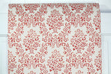 1960s Floral Damask Vintage Wallpaper