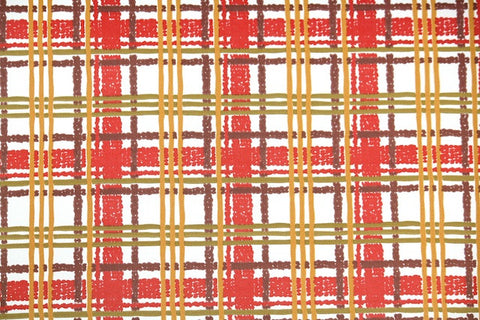 1960s Plaid Vintage Wallpaper