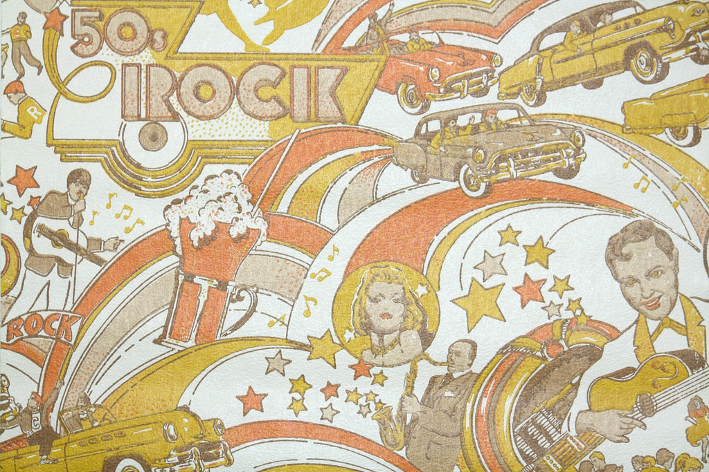 1970s Novelty Vintage Wallpaper