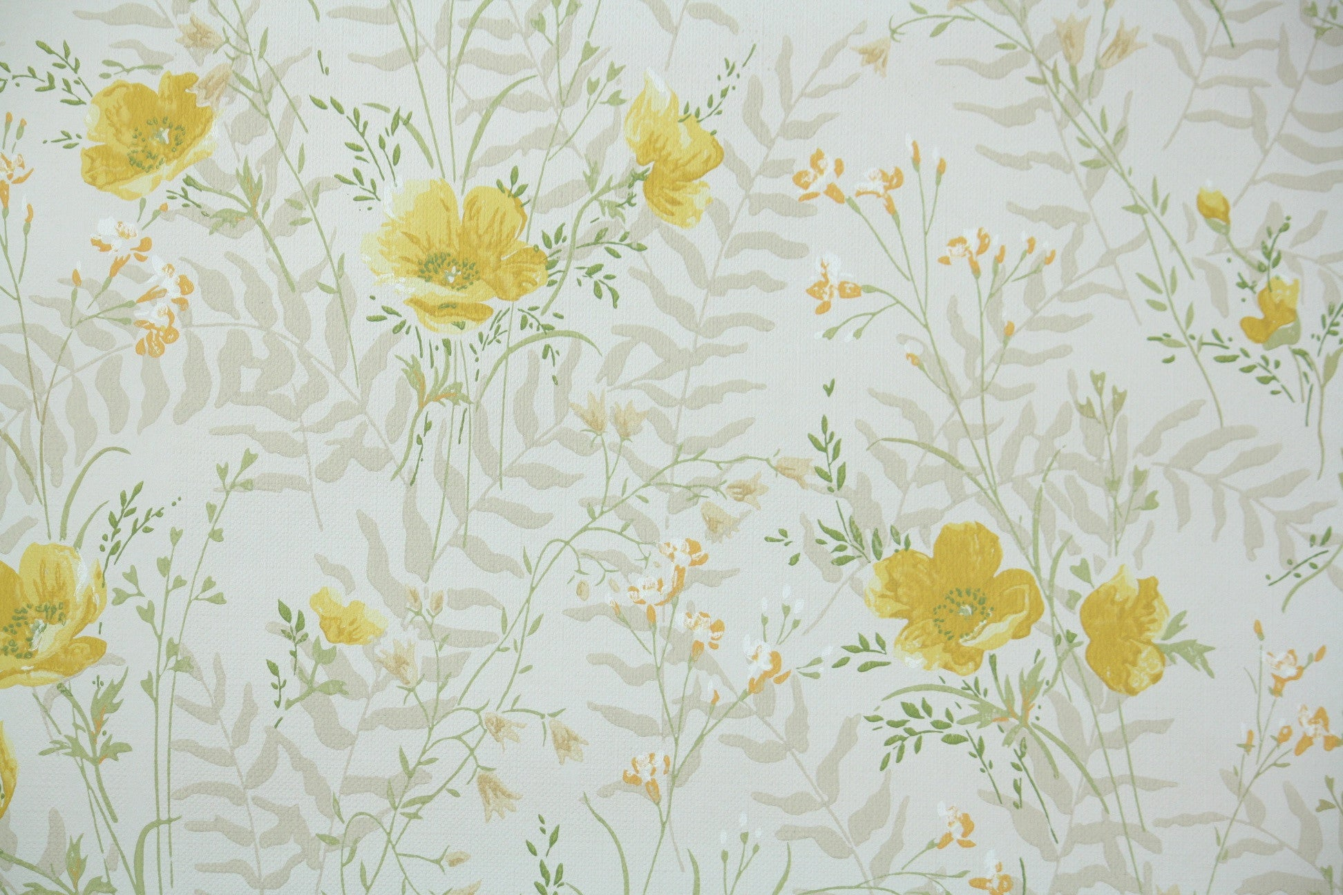 1970s Floral Vintage Wallpaper Hannah S Treasures Vintage Wallpaper