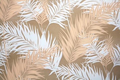 1970s Botanical Mylar Vintage Wallpaper