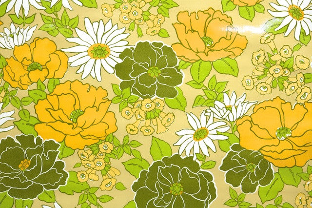 1970s Floral Vinyl Vintage Wallpaper Hannah S Treasures