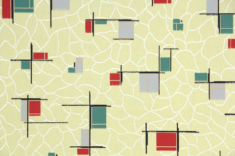 1930s Geometric Vintage Wallpaper