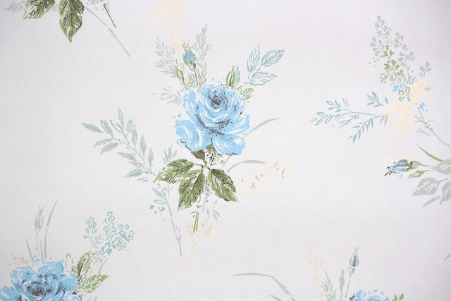 1930s Damask Vintage Wallpaper