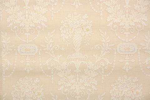1940s Floral Damask Vintage Wallpaper