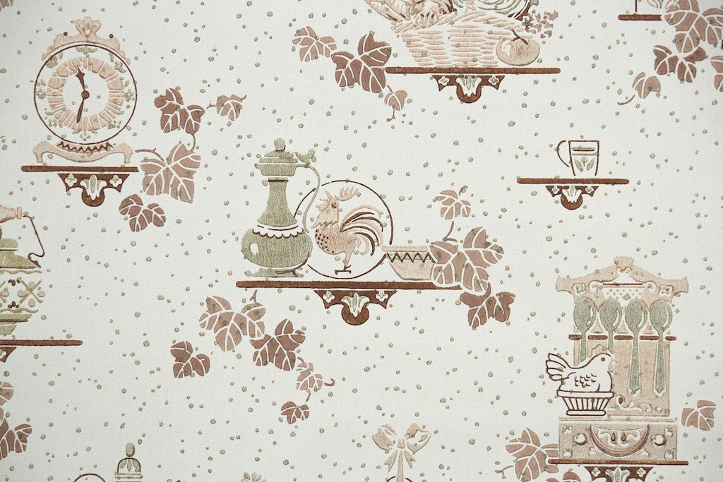 1940s Kitchen Vintage Wallpaper Hannahs Treasures Vintage Wallpaper