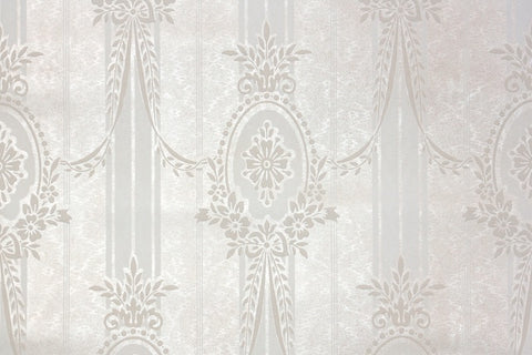 1930s Floral Damask Vintage Wallpaper