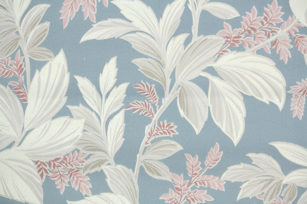 Vintage >> 1940s Botanical Vintage Wallpaper Hannah S Treasures Vintage Wallpaper