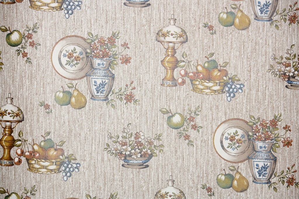 1980s Kitchen Vintage Wallpaper