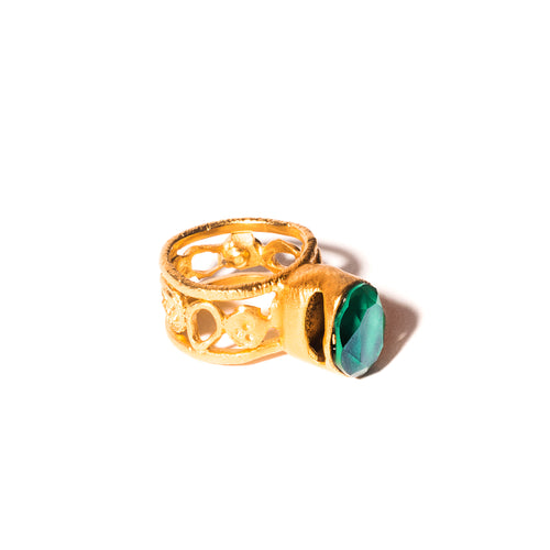 Gold plated ring UNIQUENESS