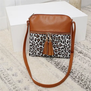 Rocco Leopard Crossbody Purse