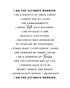 """I Am"" Motivational Print"