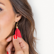 Load image into Gallery viewer, Summer Red Tassel Earrings