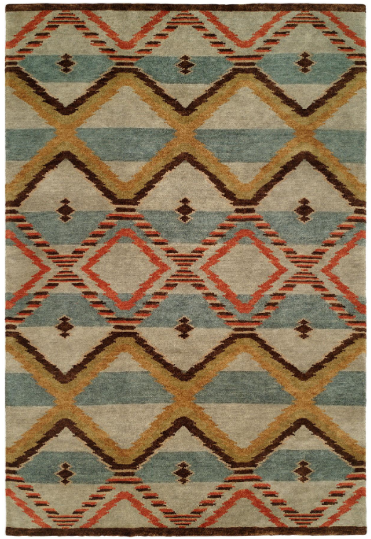 New West 691 Canyon Blue Tibetan Weave Rug