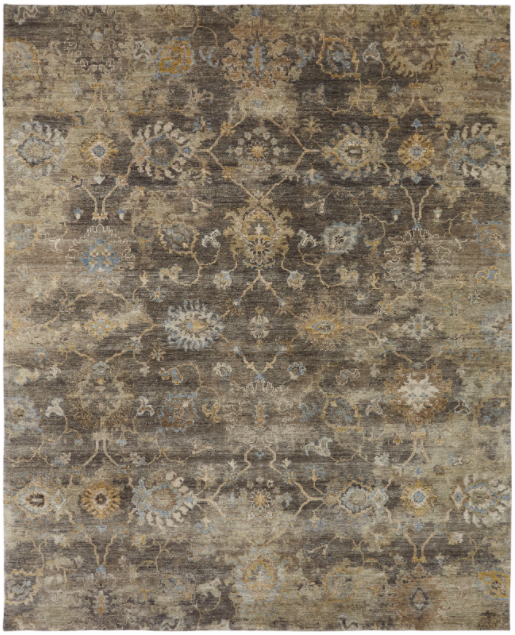 Terra 085 Smoky Brown Handknotted Rug