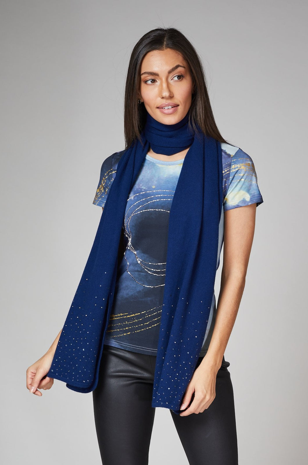 Navy Cashmere Shawl (SOLD OUT)