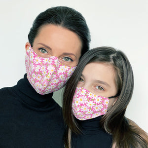 """Pink Daisy Mommy and Me"" Face Mask Set (Qty. 2)"
