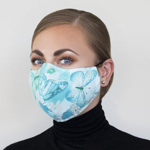 """Teal Serenity"" Couture Face Mask"