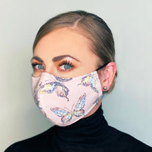 "Load image into Gallery viewer, ""Pink Clouds"" Couture Face Mask"