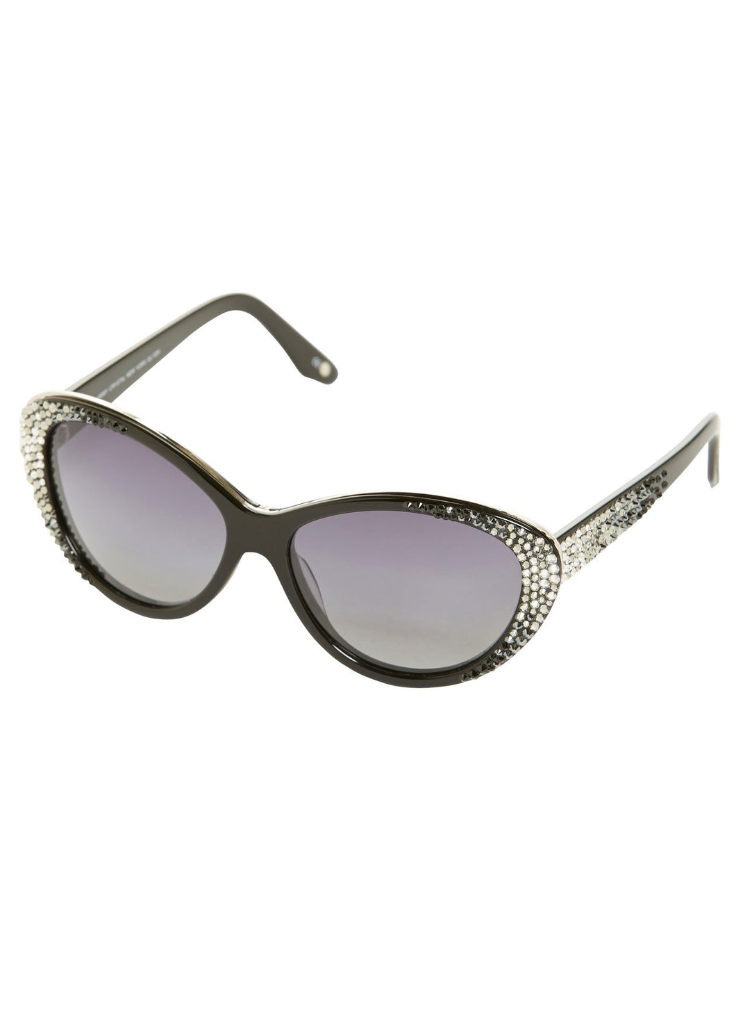 Luly Yang | Swarovski Crystal-Accented Ombré Cat-eye Sunglasses