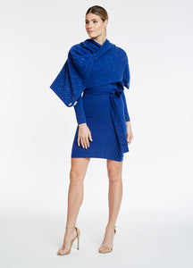Luly Yang | Cashmere Shawl with Graduated Swarovski Crystal Detailing