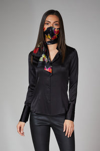 'Elemental' Black Silk Shirt
