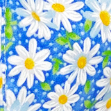 """Blue Daisy"" Kid's Face Mask"