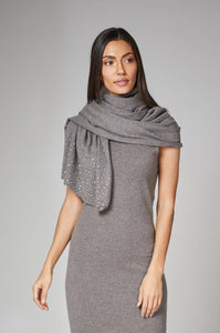 Taupe Grey Cashmere Shawl