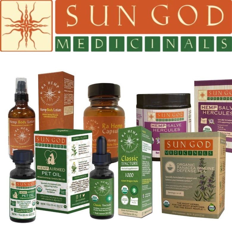 Sun God Medicinals products available at CBD Emporium