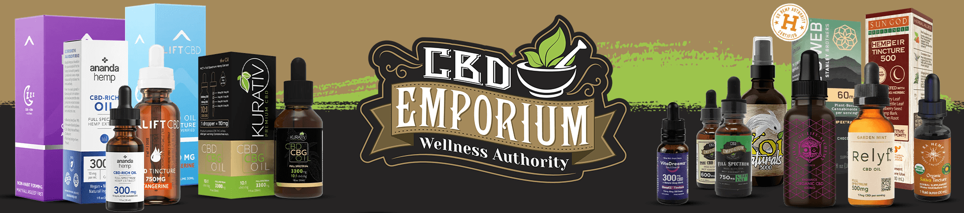 CBD Tinctures products at CBD Emporium