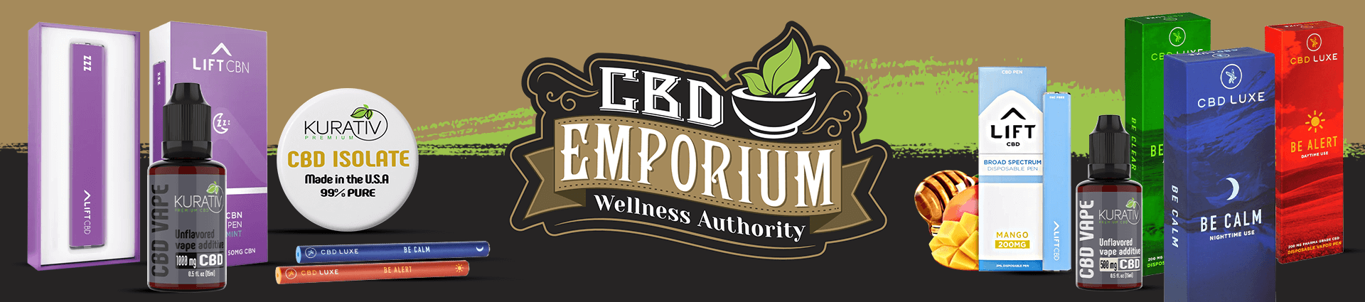 CBD Vapes products at CBD Emporium