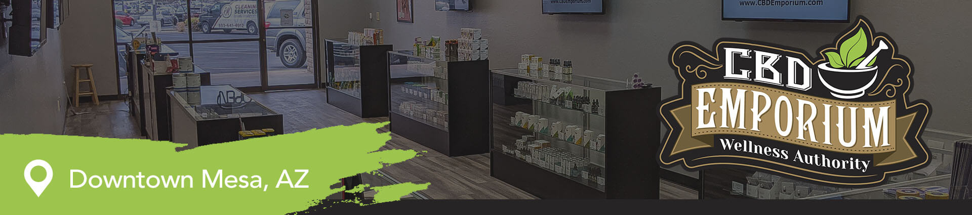 Inside our CBD Store in Mesa