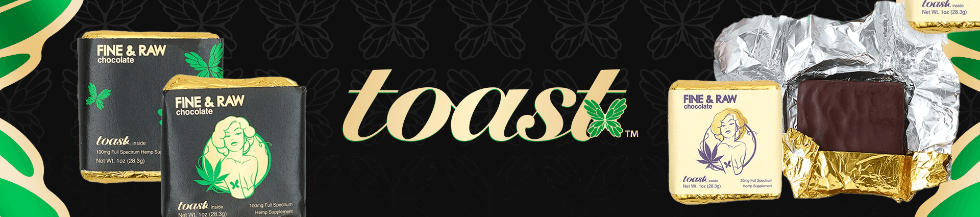 Toast CBD Chocolates Banner