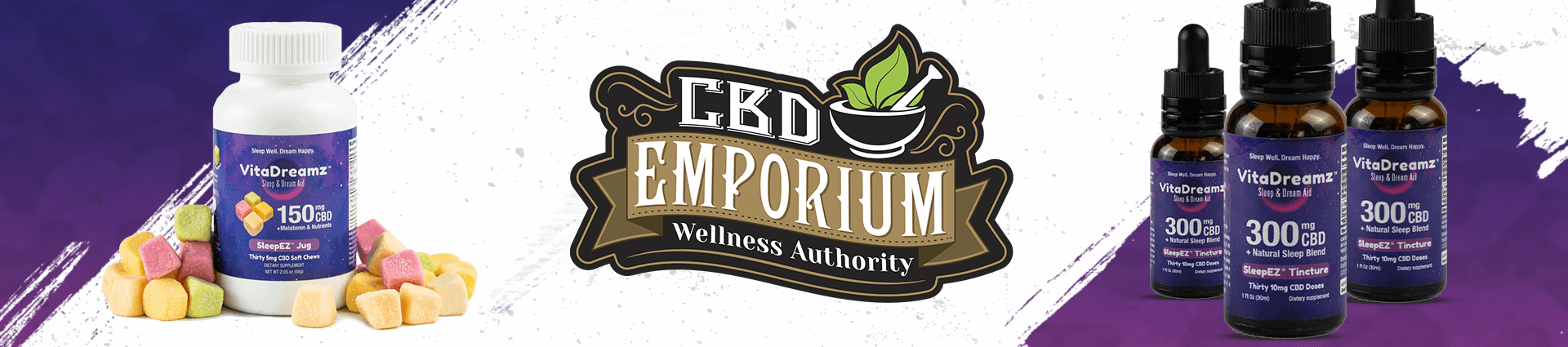 VitaDreamz CBD Sleep Aid Supplements from CBD Emporium (footer)
