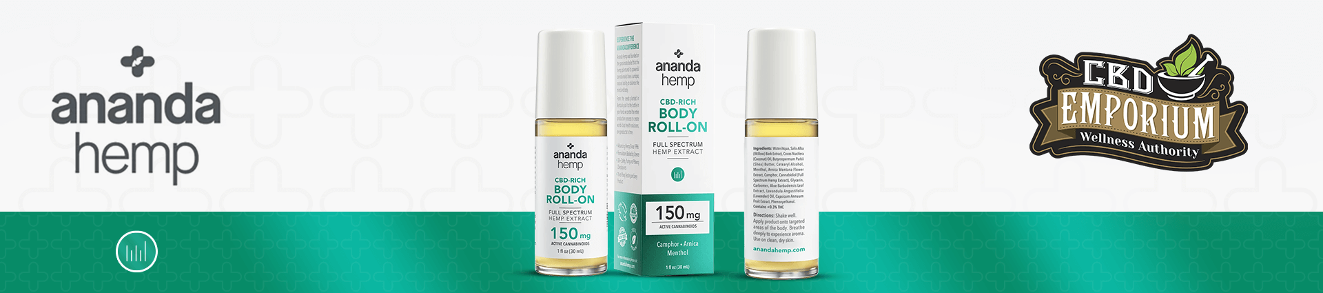 Ananda Hemp CBD Roll-On carried at CBD Emporium