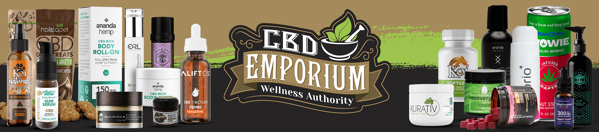 CBD Emporium Product Collage