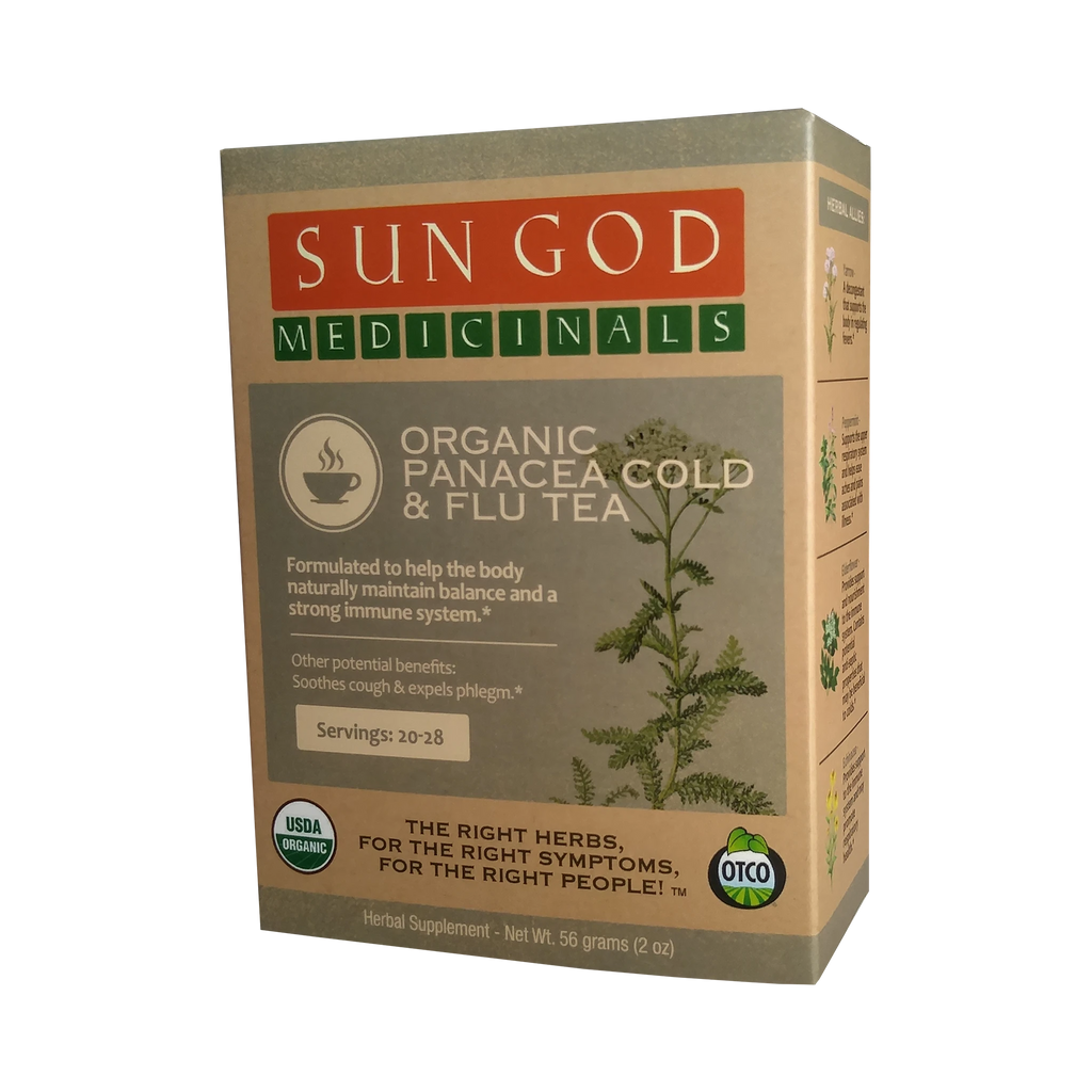 Sun God Herbal Tea, Panacea Cold & Flu - 2oz-CBD Emporium
