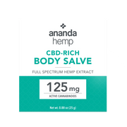 Ananda Hemp Full Spectrum Topical Salve - 125mg, 1oz