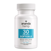 Ananda Hemp Broad Spectrum Softgels - 30ct: 15mg CBD/1 Capsule-CBD Emporium