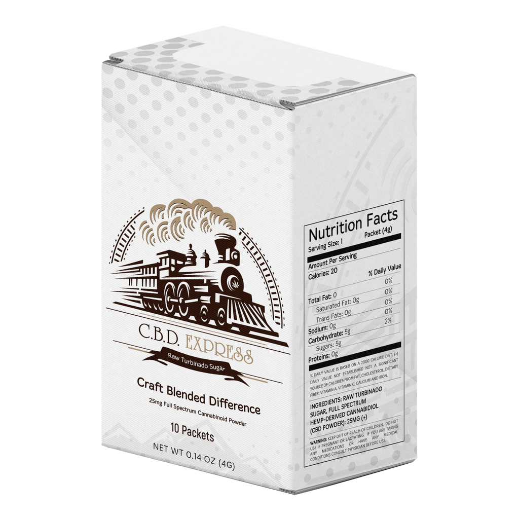 CBD Express CBD Sugar Packets - 10ct (a Beverage) made by Science of Life Alchemy sold at CBD Emporium