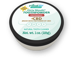 Primal Life Organics Dirty Mouth CBD Tooth Powder, Peppermint from CBD Emporium
