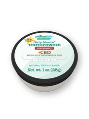 Primal Life Organics Dirty Mouth CBD Tooth Powder, Peppermint-CBD Emporium