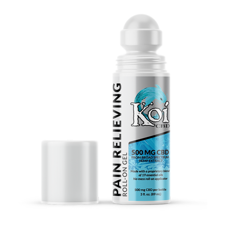 Koi Naturals Hemp Extract Roll-On Gel - 500mg, 3oz-CBD Emporium