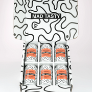 Mad Tasty Hemp Infused Sparkling Water, Grapefruit 20mg - 6 Pack, 12oz