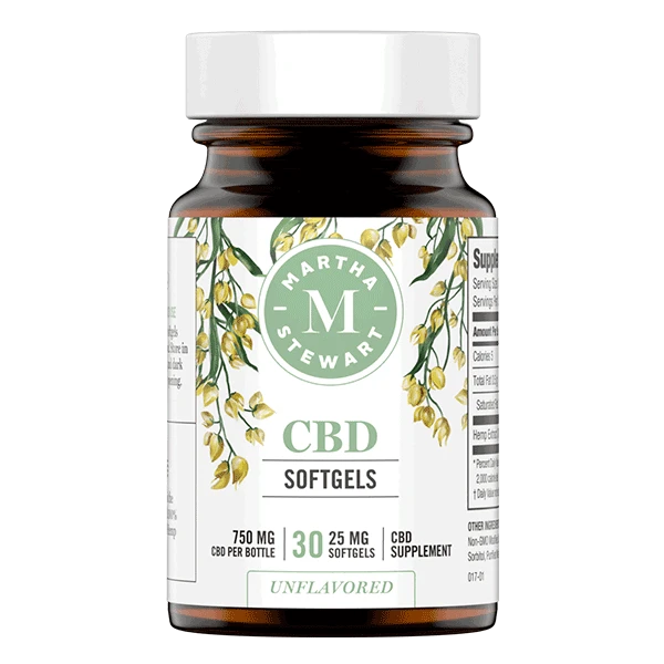 Martha Stewart CBD Softgels - 750mg, 30ct (a Capsules) made by Martha Stewart CBD sold at CBD Emporium