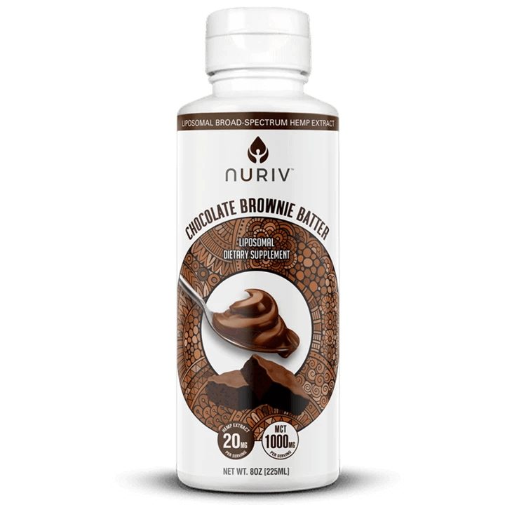 Nuriv CBD Chocolate Brownie Batter - 8oz (a Sweets) made by Nuriv sold at CBD Emporium