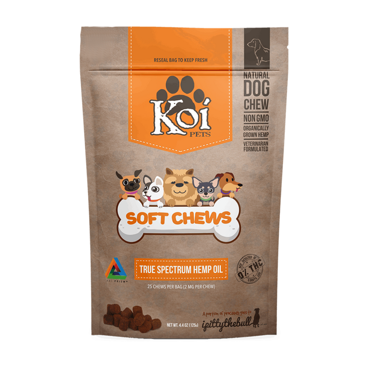 Koi Naturals Hemp Extract CBD Pet Soft Chews- 2mg, 25 Count-CBD Emporium