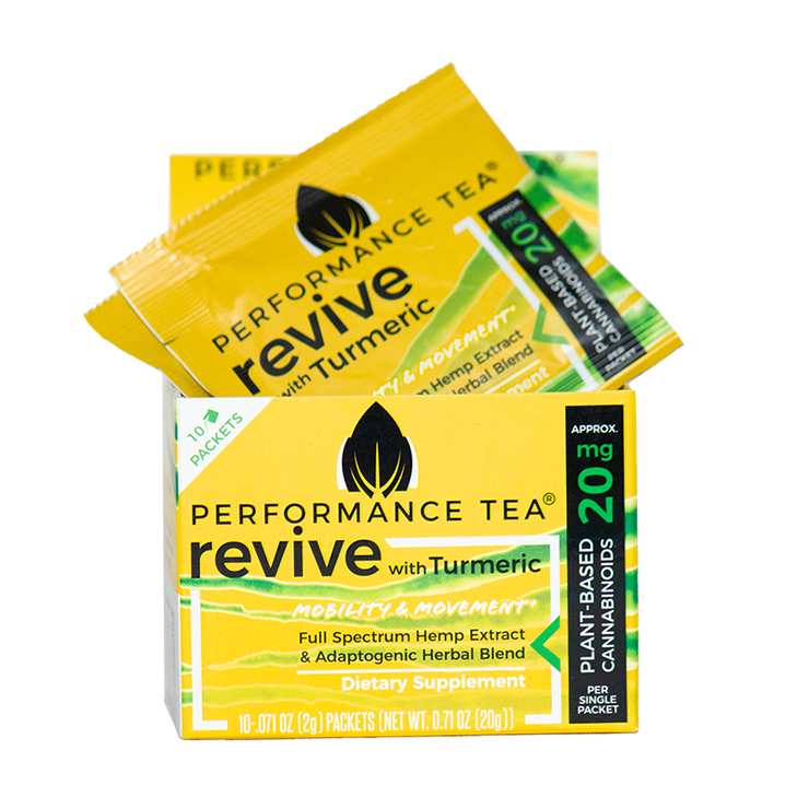 Performance Tea, Box of Revive CBD Packets - 20mg, 10ct